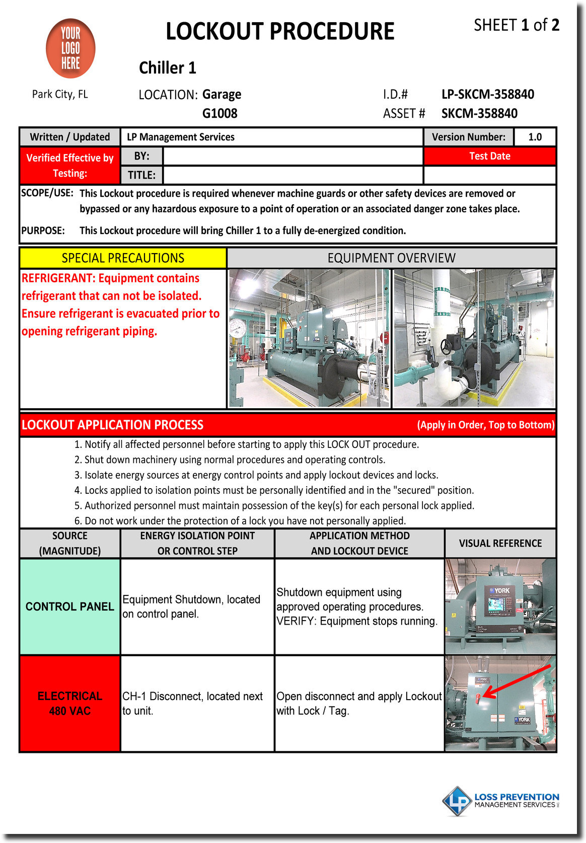 lockout tagout procedures development lp management services